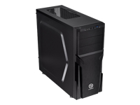 THERMALTAKE Versa H21 Midi Tower black Micro ATX front-top I/O ports with 1x USB2.0 and 1x USB 3.0 Tool-less design